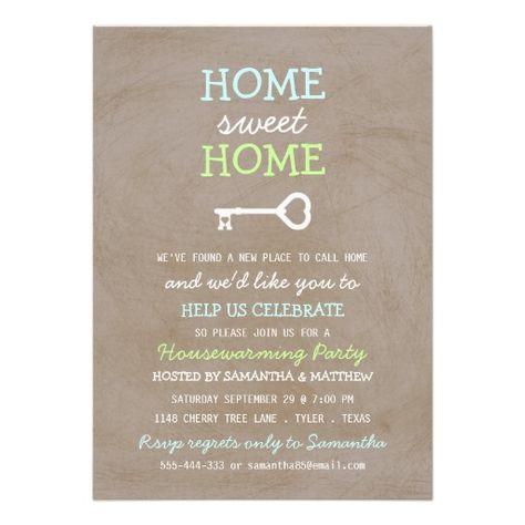 Cute Chalkboard New Home Housewarming Invitations  Zazzle Party