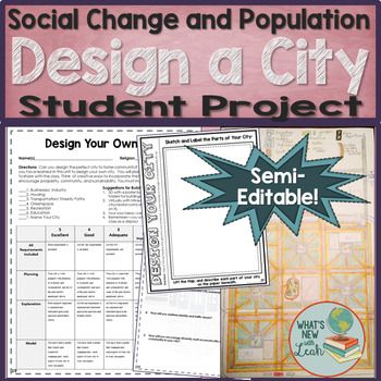 Design Your Own City Project Social Studies Projects Engagement