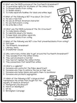 jim crow laws questions