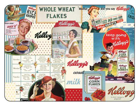 Set de table Kellogg/'s Vintage
