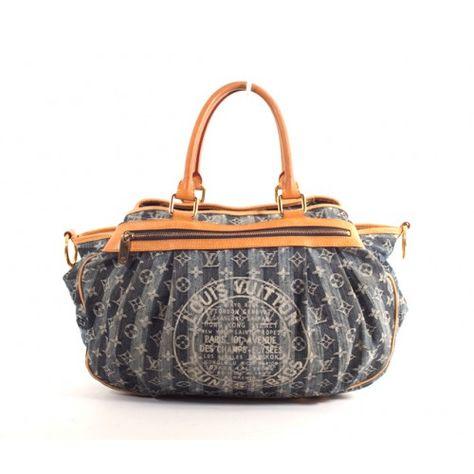 ace6fffb1681 Louis Vuitton Blue Denim Monogram Cruise Raye Cabas GM Bag