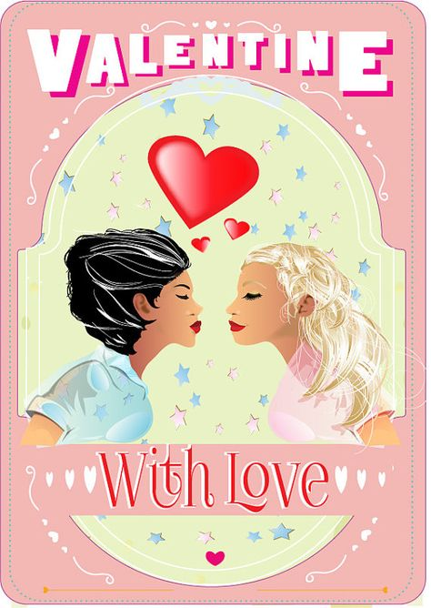 Personalised Lesbian Valentines Day Cards by Peppermint2couk – Lesbian Valentines Day Cards
