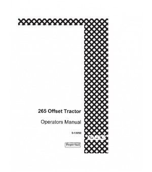 CASE IH 265 OFFSET TRACTOR OPERATORS MANUAL DOWNLOAD