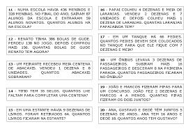 Varal De Atividades 30 Problemas Centena Dezena Unidade