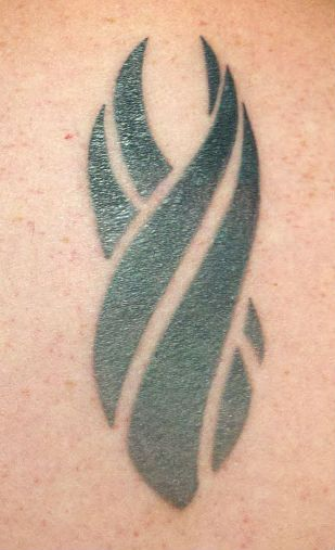 Dead Space Red Marker Tattoo