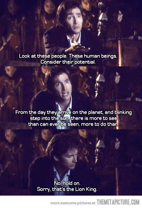 Haha oh doctor who..