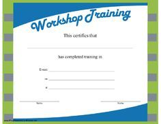 certificate cv workshop event #Certificate #Design | cv workshop ...