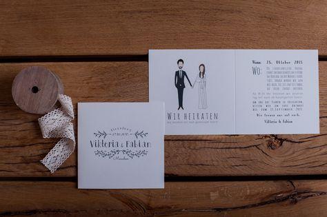 Hochzeitspapeterie Mal Anders Von Den Illustraten