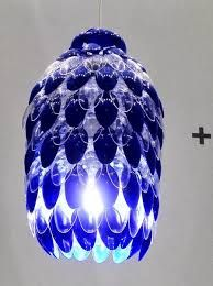 Brighten A Hallway With A PENDANT LAMP, Using Just Plastic Spoons, A Jug,  And A Hot Glue Gun. For A 10 Liter Jug, Plan On Using About 300 Spoons.