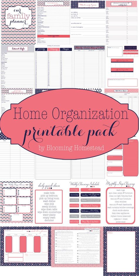 Free Family Planner Printable | Family planner, Free printable and ...