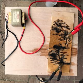 Woodburning With Electricity Burning Wood With Electricity Wood Burning Art Wood Art Projects