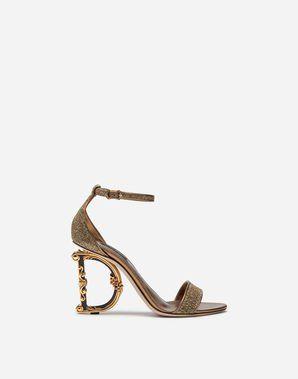 Women's Sandals and Wedges | Dolce&Gabbana LUREX SANDALS