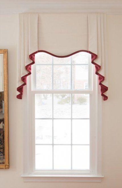 Trendy Kitchen Window Treatments Red