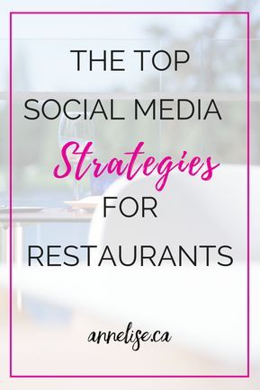 The top social media strategies for restaurants. If you are a restaurant or service based business here are a few strategies you can use on social media. What restaurants can do for their online marketing. Marketing strategies for restaurants. Social media strategies for cafes.