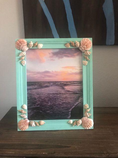 New 8x10 Beach Frames available now in my #etsy shop. Link in bio. #frame #beachframe #shellframe #pictureframe #buyme #giftidea #coastalliving #beachdecor # Beachhousedecor #etsyshop #shopsmall #shelldecor #shellart