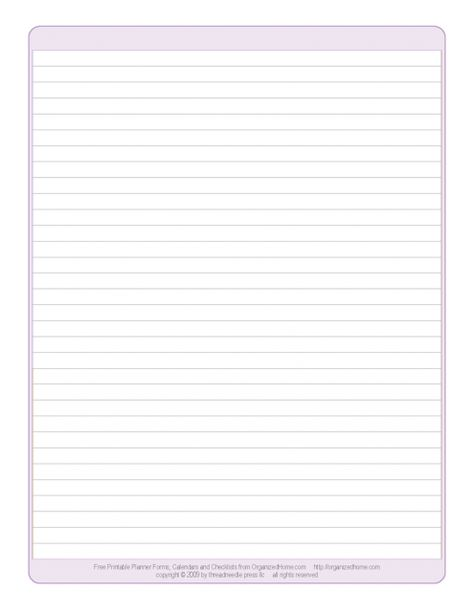 Lined Blank Notebook Paper - Crocus Printables Pinterest - college ruled paper template