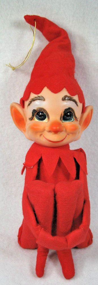 Vintage Elf Pixie Knee Hugger Large Christmas