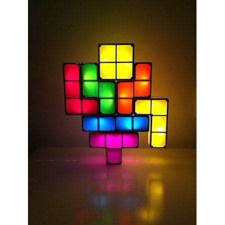 Tactbit Light 7 Pcs Usb Powered Must Have For Home Office Magical Decorative Light Tetris Stackable Led Desk Led Desk Lamp Desk Lamp Light Decorations
