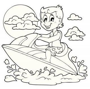 7 Fun Jet Ski Coloring Pages For Kids Sports Coloring Pages