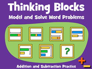 Thinking Blocks - Model and Solve Math Word Problems using Singapore Math bar modeling