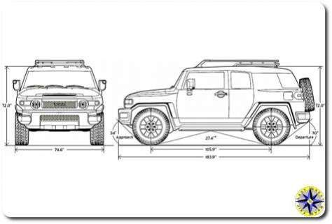 Fj Cruiser Dimensions Drawing Fj Cruiser Toyota Fj Cruiser