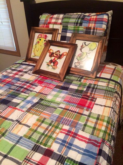 Jaxen S Bedding With His Pictures Prints Are From Etsy Frames From