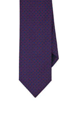 Purple geometric pattern mens tie