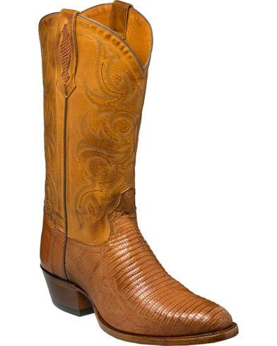 4eda48c5039 Tony Lama Men's Nacogdoches Brandy Teju Lizard Cowboy Boots - Medium ...