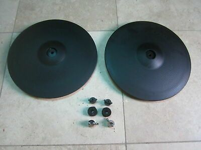 Two Roland Cy 14c V Drum Crash Cymbal Cy 14c In 2020 Drums Cymbals Crash