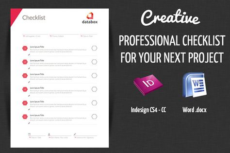 Check out Professional Project Checklist by OFFI on Creative - project checklist