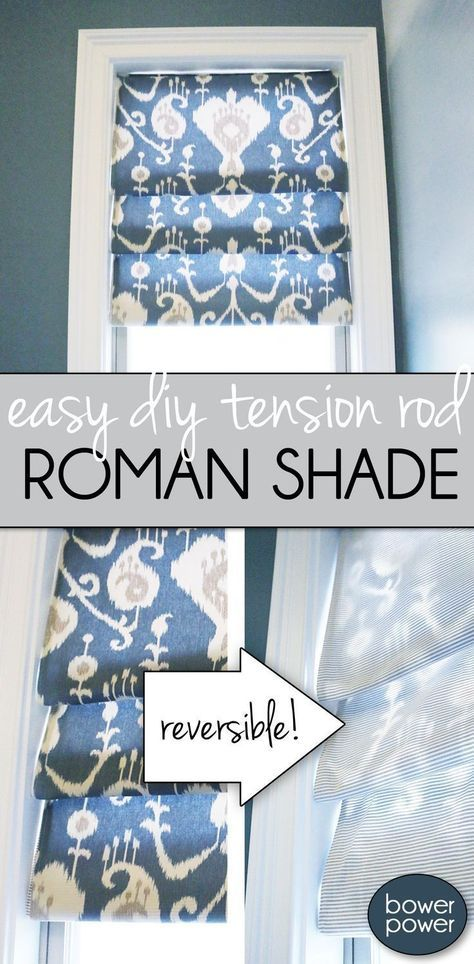 Here's an easy tutorial how to make your own roman shade. It's SO EASY anyone can do it! Here's an easy tutorial how to make your own roman shade. It's SO EASY anyone can do it! Diy Simple, Easy Diy, Stores Horizontaux, Diy Roman Shades, Diy Window Shades, Fabric Roman Shades, Sewing Projects, Diy Projects, Sewing Tutorials