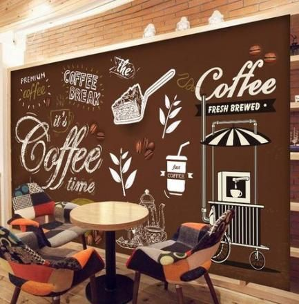 45 Ideas Wall Painting Restaurant Coffee Shop For 2019 Brick