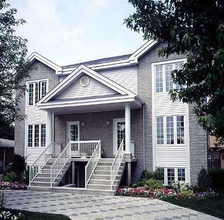 Plan Duplex For Narrow Lot Family Houses Family House