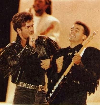 George Michael Wham Last Concert In Wembley London June 1986 George Michael George Michael Wham Andrew Ridgeley