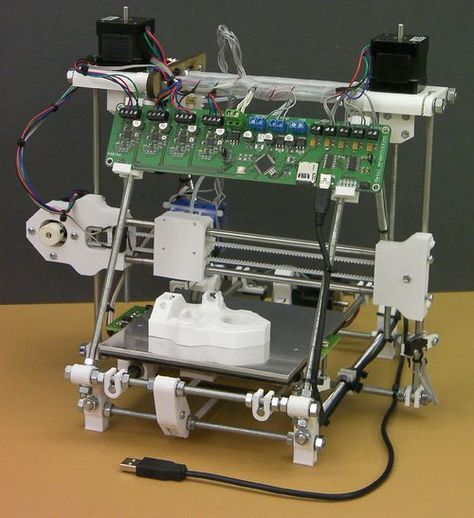 Huxley, smaller RepRap 3D printer design to reduce part count and give portability.