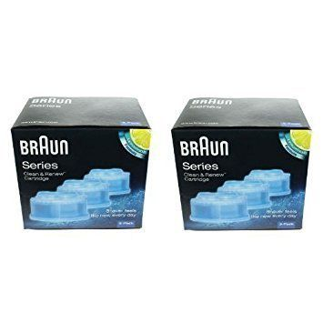 Braun Clean Renew Shaver Cleaning Refill Cartridges 2 Boxes 6 Refills Funkeemunkee Braun Clean And Renew Cleaning Refill