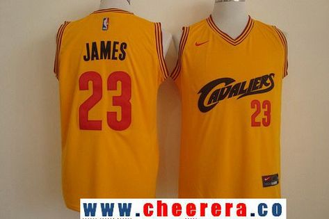 Men S Cleveland Cavaliers 23 Lebron James 2017 Yellow Fashion Stitched Nba Nike Basketball Jersey With Images Nba Jersey Cheap Nba Jerseys Jersey