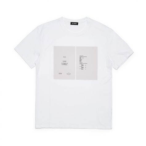 59de3692cd348 Raf Simons Mens Slim Fit T-Shirt Drugs Cover (White)