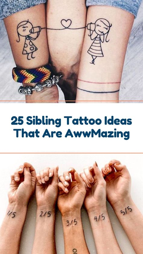 25 Sibling Tattoo Ideas That Are AwwMazing