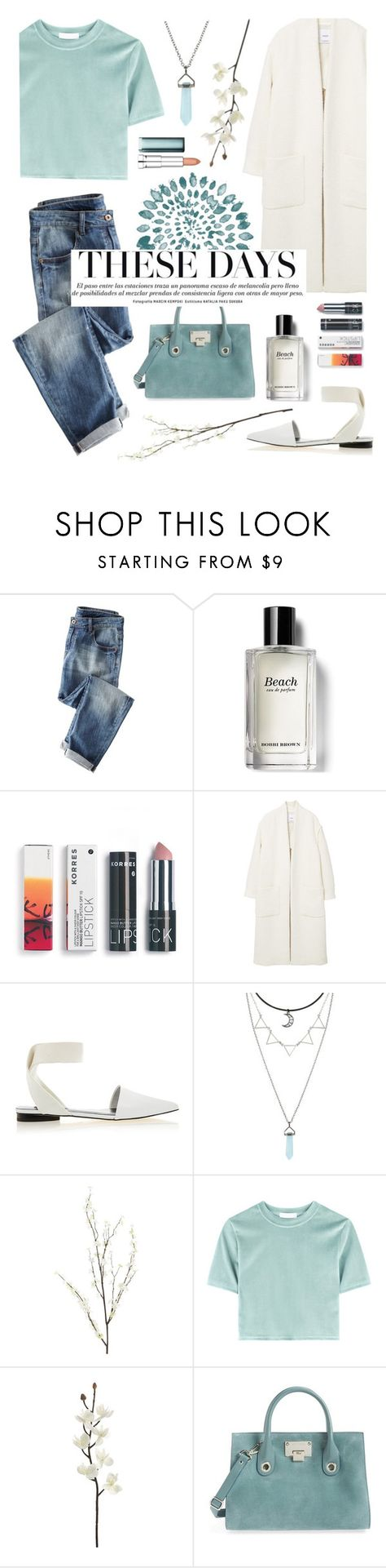 """""""aqua"""" by dffn-dn ❤ liked on Polyvore featuring Wrap, Bobbi Brown Cosmetics, Korres, MANGO, Senso, Pier 1 Imports, Jimmy Choo and Maybelline"""