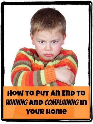 How to Put an End to Whining and Complaining in Your Home.....I can't WAIT to read this one!!!  : D