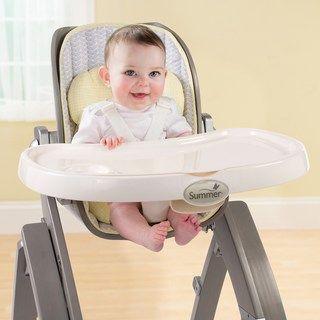 Summer Infant Bentwood High Chair High Chair Baby Feeding Set