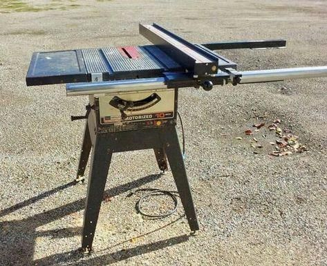 Setting Up Shop Stationary Power Tools Craftsman Table Saw Table Saw Fence Table Saw