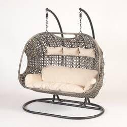 Mid Century Rattan Chair, Schwartz Wicker Hanging Egg Swing Chair With Stand Swinging Chair Hanging Swing Chair Egg Swing Chair