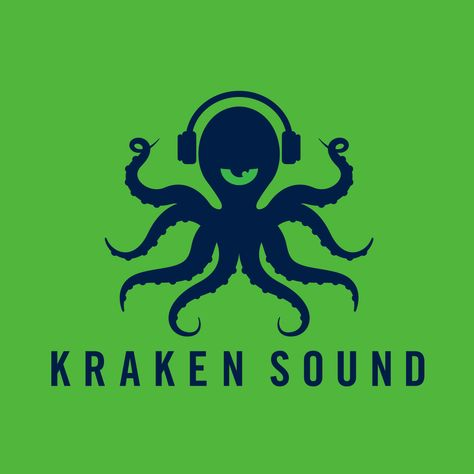 Alternate concept logo design for Kraken Sound, a sound engineering