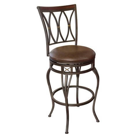 Hannah Dark Champagne Bronze 30 In Bar Stool At Lowes 89