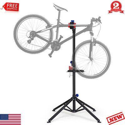 Foldable Bicycle Repair Stand Bike Trainer Mechanic Holder Adjustable Rack