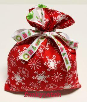 Bolsa De Tela Para Regalar Tutorial De Navidad Y Patchwork En Funkypatch Bolsa De Dulces Navidad Bolsa De Tela Bolsas De Navidad