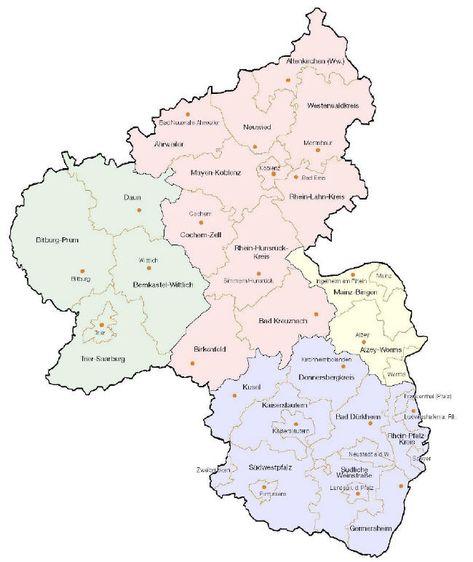 Landkarte Niedersachsen Und Bremen Mit Landkreisen Landkarten