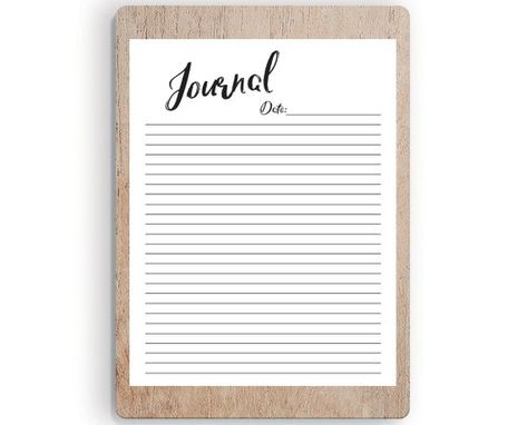 Printable Journal Pages Printable Journal, DIY Journal, Daily